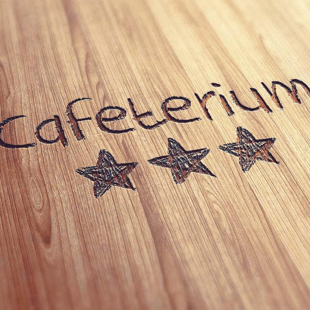 Cafeterium Logo Lasercut