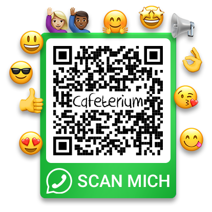 WhatsApp QR Code with Emojis - scan me!